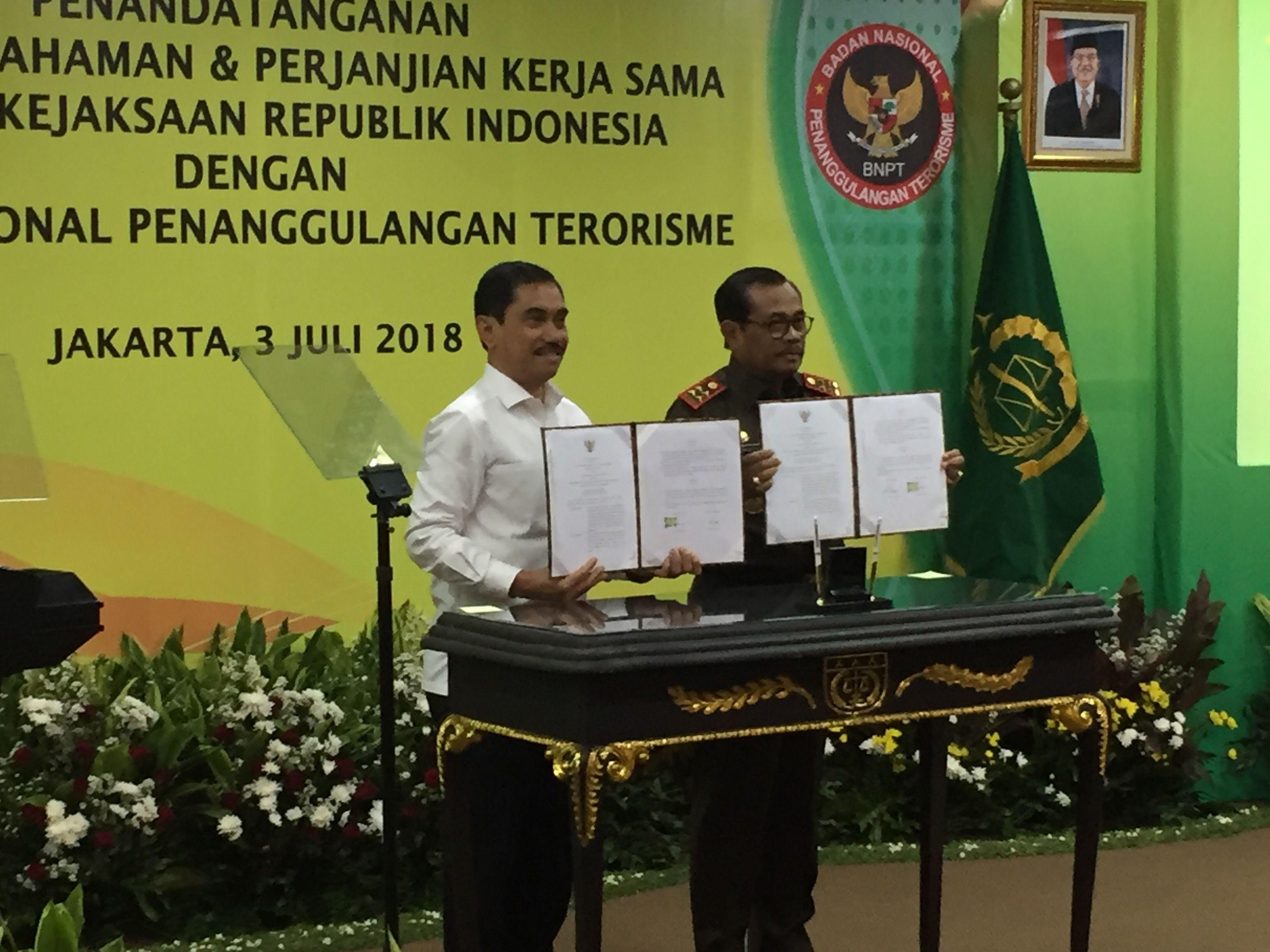 Kejagung dan BNPT teken Mou berantas terorisme