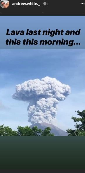 Andrew White tentang erups Gunung Agung