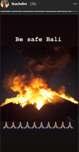 Irfan Bachdim tentang erupsi Gunung Agung