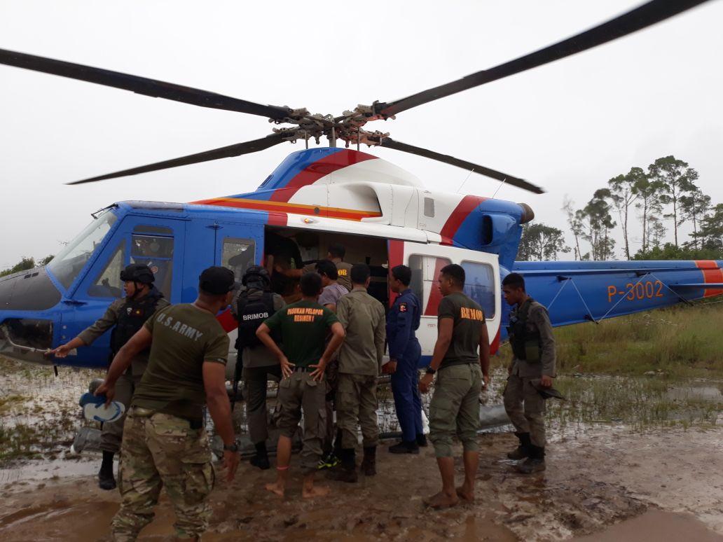 Kontak senjata Brimob dengan KKSB di Papua