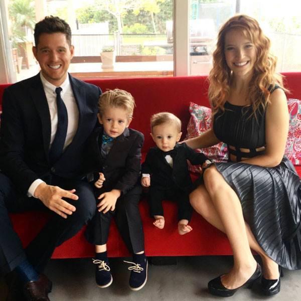 Michael Buble dan keluarga