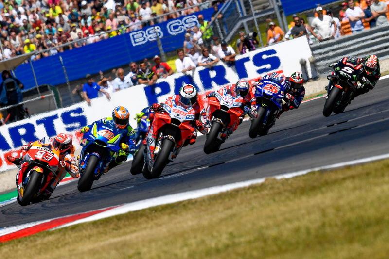 Aksi pembalap MotoGP di Sirkuit Assen
