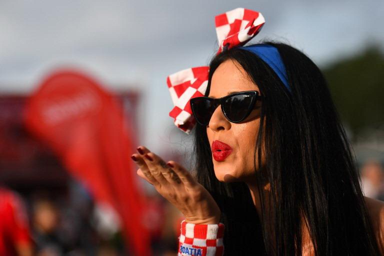 Fans Timnas Kroasia (Foto: AFP)