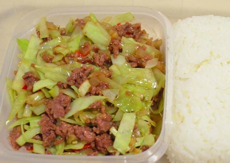 daging cincang sayuran