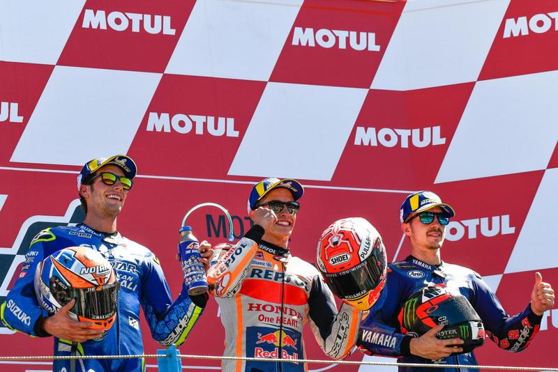 Alex Rins, Marc Marquez, dan Maverick Vinales
