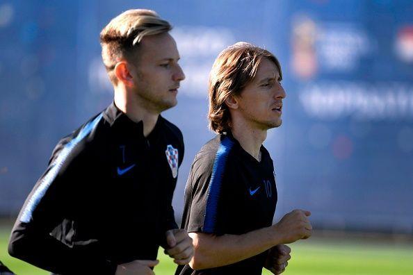 Luka Modric dan Ivan Rakitic