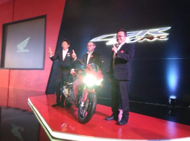 Honda luncurkan motor sport terbaru. (Foto: Mufrod/Okezone)