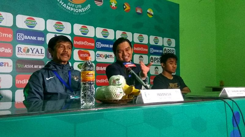 Konferensi Pers Timnas Indonesia U-19
