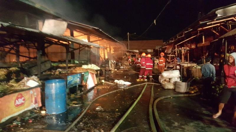 Kebakaran Pasar Gedebage, Bandung. (Foto: Ist)