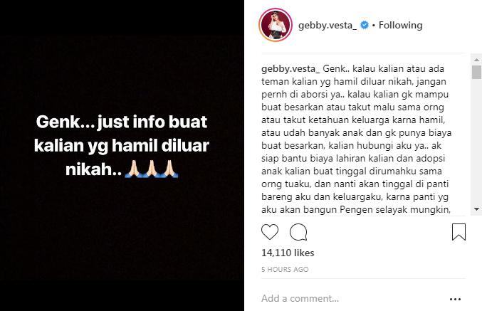 Tebus Dosa Gebby Vesta Buka Panti Asuhan Untuk Anak Hamil Di Luar Nikah Okezone Celebrity