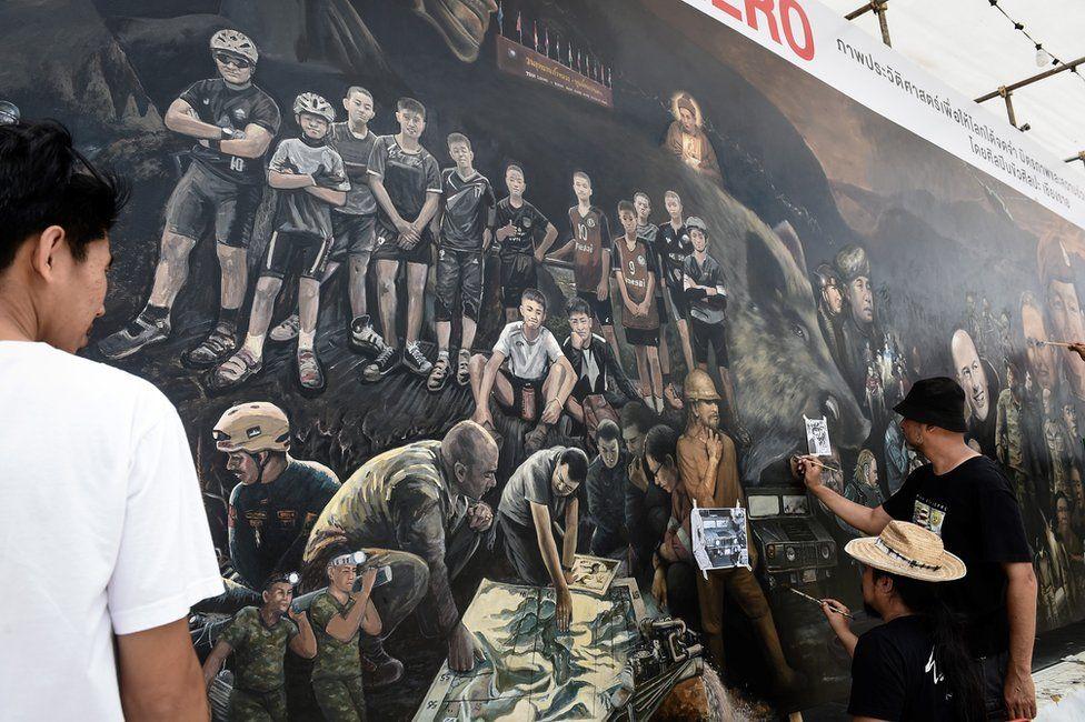 Mural di Thailand. Foto: Getty Images