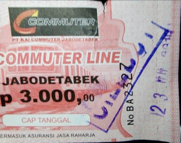 Tiket sementara KRL. (Foto: Okezone)