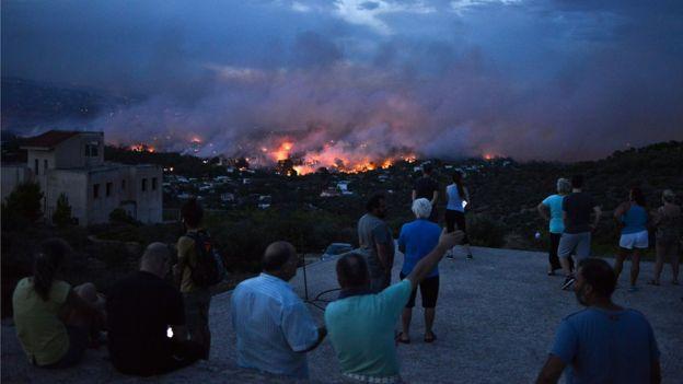 Kebakaran hutan di Yunani