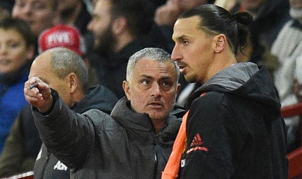 Jose Mourinho dan Zlatan Ibrahimovic (Foto: AFP)