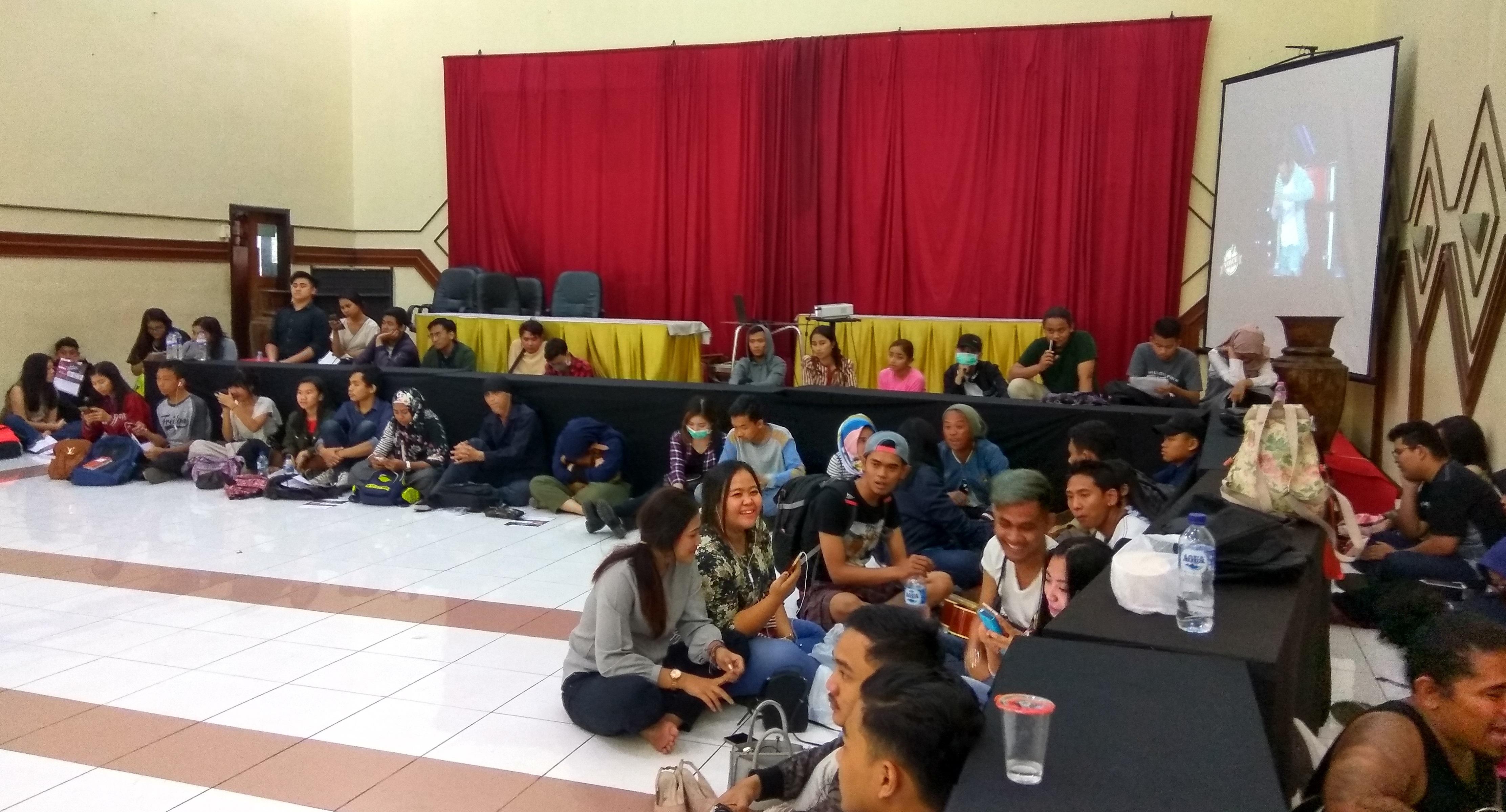 Peserta audisi The Voice Indonesia di Kota Malang