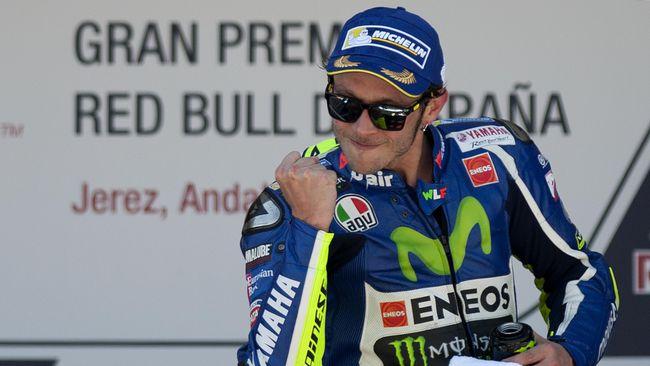 Valentino Rossi di podium