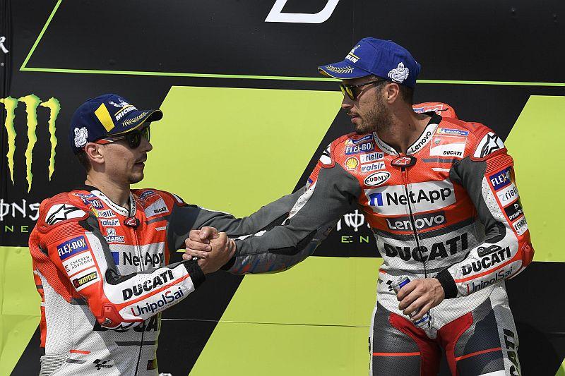 Jorge Lorenzo dan Andrea Dovizioso (Foto: AFP)