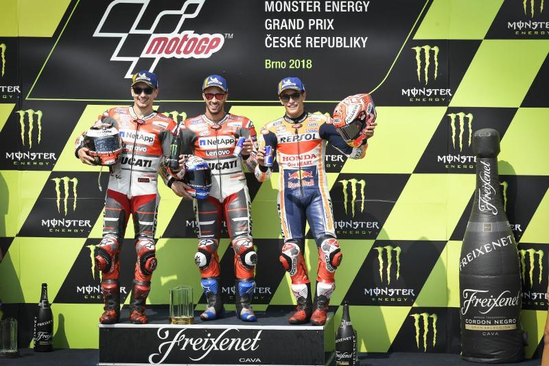 Jorge Lorenzo, Andrea Dovizioso, dan Marc Marquez (Foto: MotoGP)