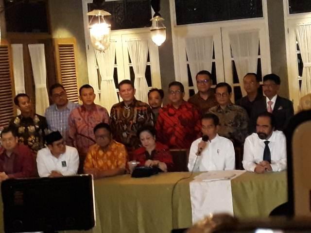 Ketum Parpol pendukung Jokowi kumpul di restoran Menteng