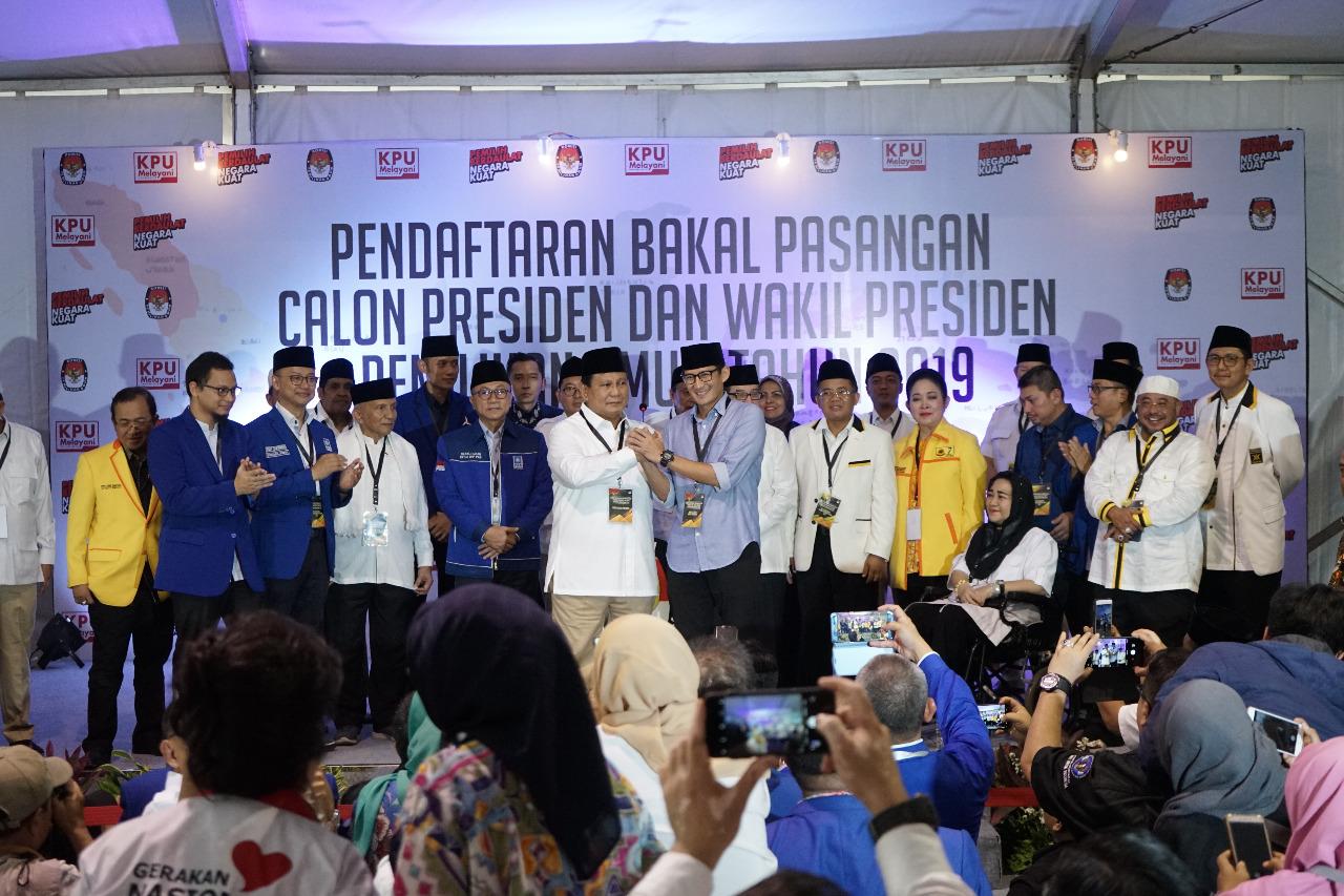 Prabowo Subianto dan Sandiaga Salahuddin Uno. (Foto: Heru Haryono/Okezone)
