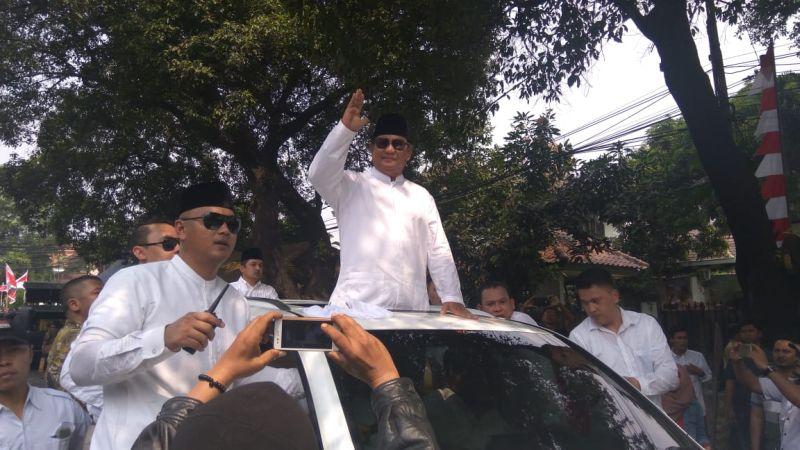 Prabowo saat daftar ke KPU
