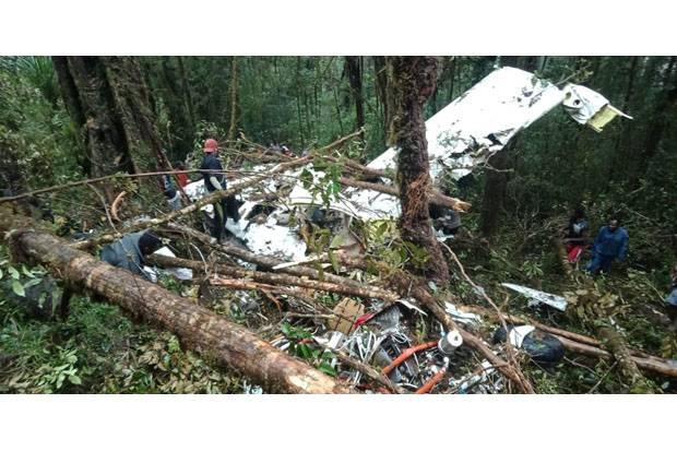 Pesawat jatuh di Papua (Foto: Ist)