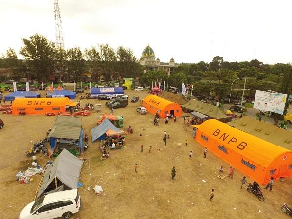 Posko pengungsian korban gempa NTB. (Foto: BNPB)