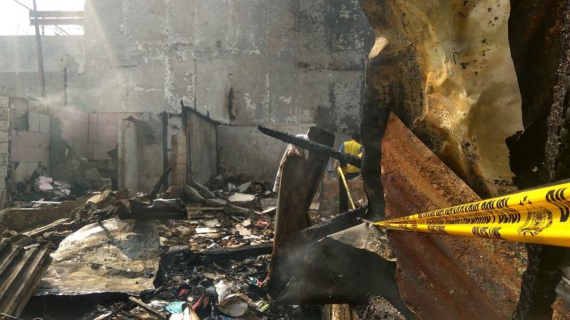 Rumah hangus dalam kebakaran di Matraman Dalam 2, Kelurahan Pegangsaan, Kecamatan Menteng, Jakarta Pusat2.(Foto: Badriyanto/Okezone)