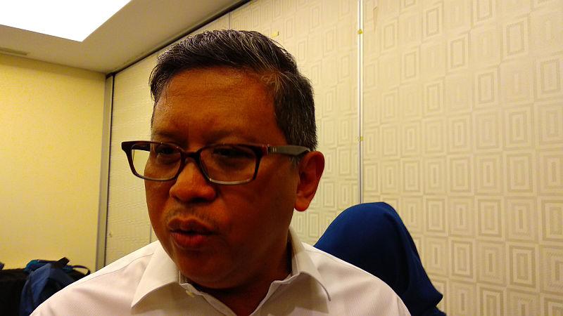 Sekjen PDIP Hasto Kristiyanto (Foto: Fadel Prayoga/Okezone)