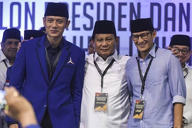 Prabowo, Sandiaga, AHY