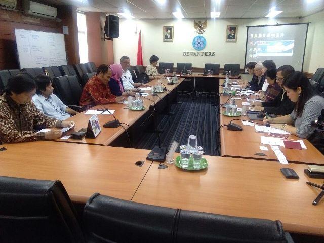 Kunjungan Dewan Pers Thailand ke Kantor Dewan Pers Indonesia. (Foto: Okezone)