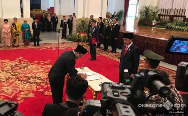 Pelantikan Komjen Syafruddin Jadi Menpan RB (foto: Fakhri/Okezone)