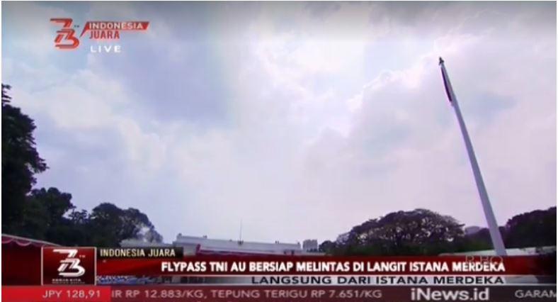 Upacara HUT Ke-73 RI. (Foto: Inews)