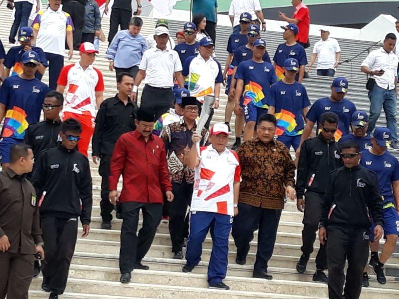 Kirab Obor Asian Games di DPR