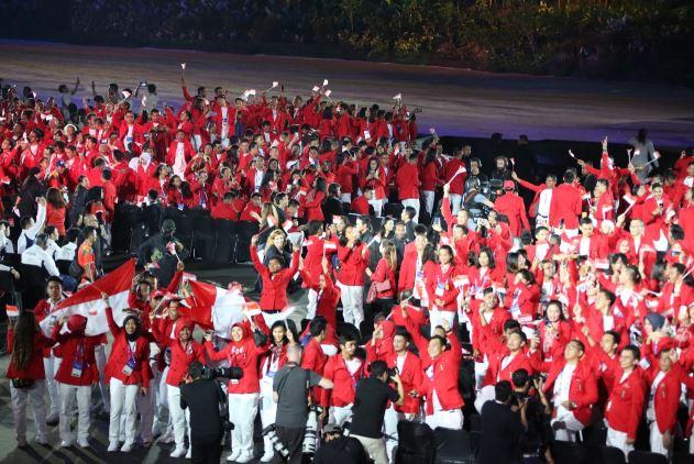 Suasana Opening Ceremony Asian Games 2018