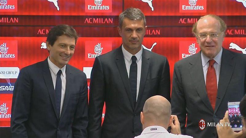 Leonardo bersama Paolo Maldini