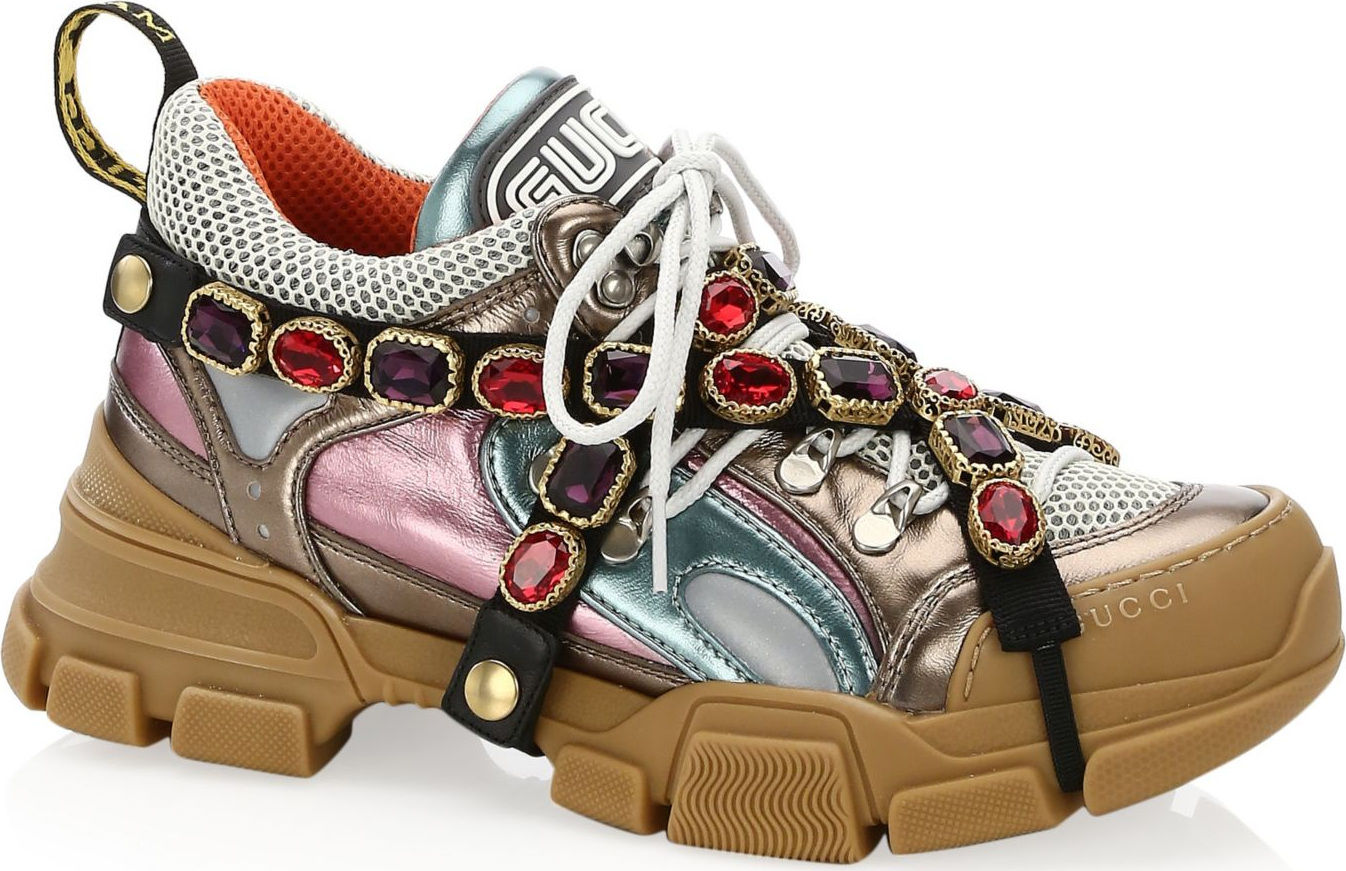 Sneakers Gucci Bertabur Batu Permata