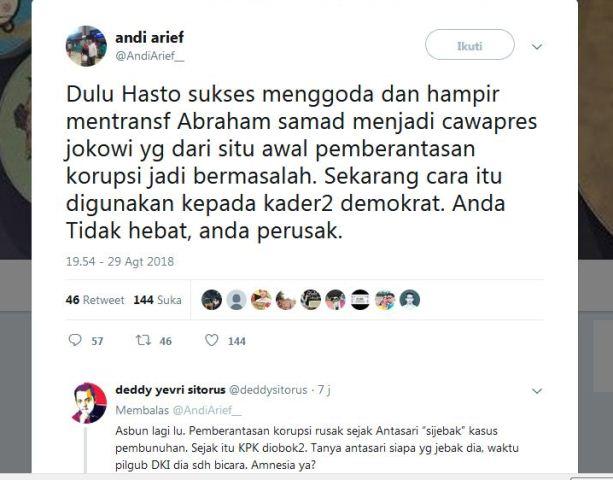 Twitter Andi Arief