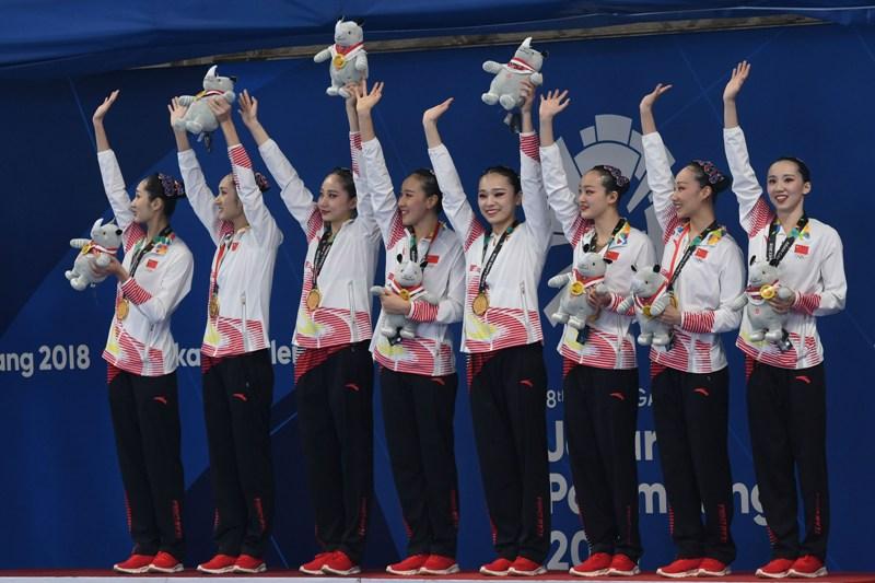 Kontingen China meraih medali emas