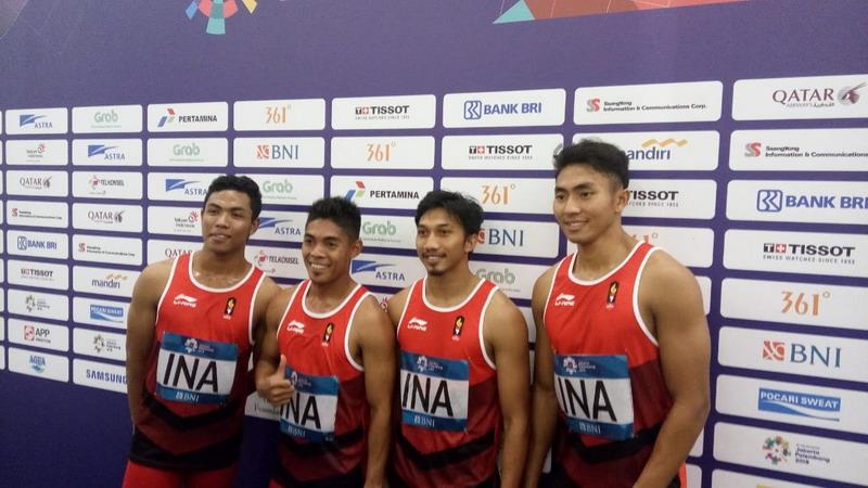 Tim 4x100 estafet putra Indonesia Asian Games 2018