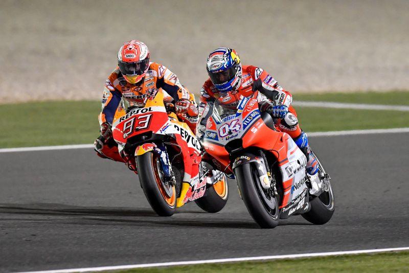 Marc Marquez dan Andrea Dovizioso (Foto: Laman Resmi MotoGP)