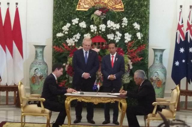 Jokowi bertemu PM Scott