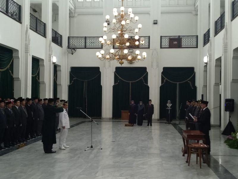 Pelantikan Toto Muhamad Toha sebagai Pj Wali Kota Bekasi (CDB Yudistira)
