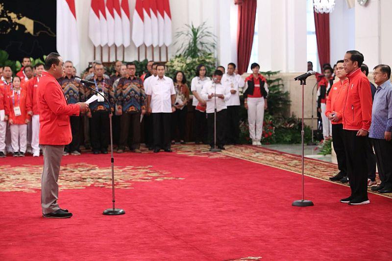 Jokowi menyambut atlet peraih medali Asian Games 2018