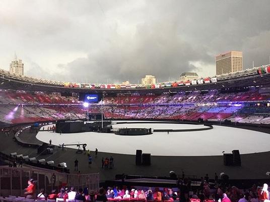 Panggung Closing Ceremony Asian Games 2018