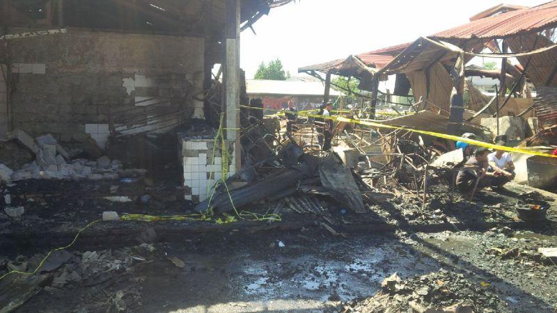 Lokasi Kebakaran di Pasar Induk Gedebage, Bandung (foto: CDB Yudistira/Okezone)