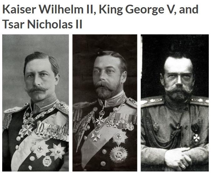 Kaiser Wilhelm II, King George V, and Tsar Nicholas II (Reader Digest)