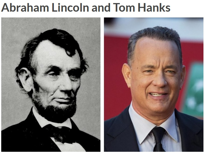 Abraham Lincoln dan Tom Hanks (Reader Digest)