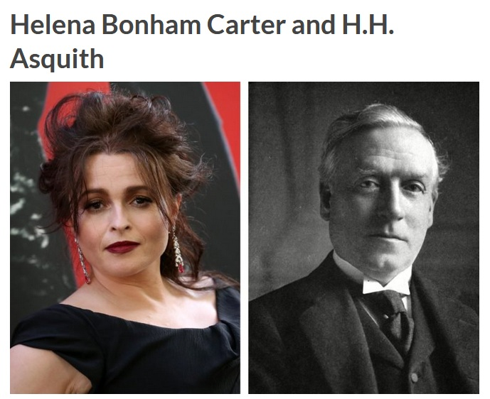 Helena Bonham Carter and H.H. Asquith (Reader Digest)