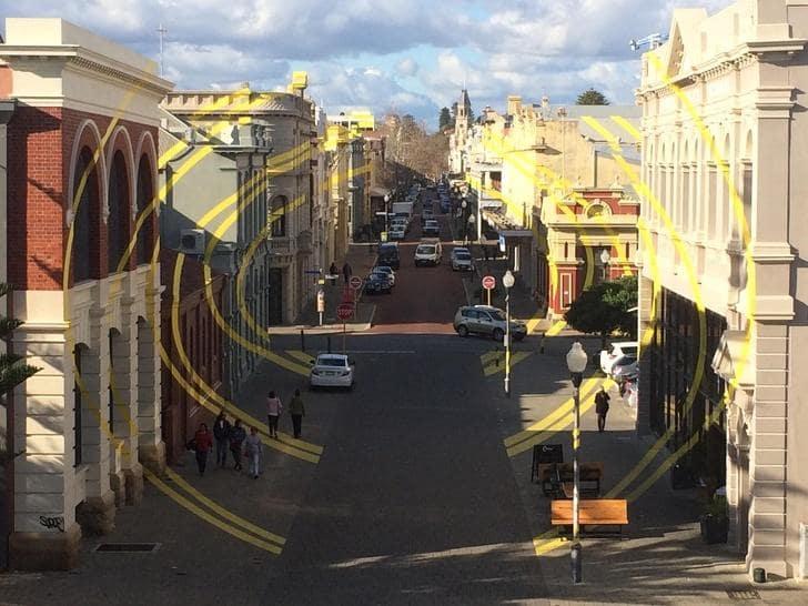 Lukisan jalanan di Australia (The Popple)